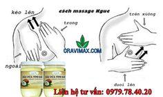 Phương pháp làm to ngực tự nhiên bằng massage với dầu dừa