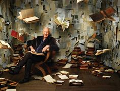 awesomepeoplereading:  Christopher Plummer reads. tintorera:  Christopher Plummer, photo by Andrew Eccles