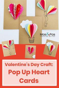 Pop Up Valentine Cards, Kinder Valentines, Valentine Crafts For Kids, Valentines Day Activities, Card Making For Kids, Valentine's Cards For Kids, Making Ideas, Pop Out Cards, Valentine's Day Crafts For Kids