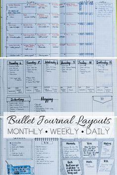 Bullet Journal layout ideas | bullet journaling | bullet journal | bullet…