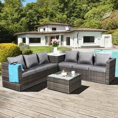 Free delivery over to most of the UK ✓ Great Selection ✓ Excellent customer service ✓ Find everything for a beautiful home 5 Seater Corner Sofa, Rattan Corner Sofa Set, Rattan Sofa, Garden Sofa Set, Garden Furniture Sets, Outdoor Furniture, Outdoor Decor, Pallet Furniture, Wood Pergola