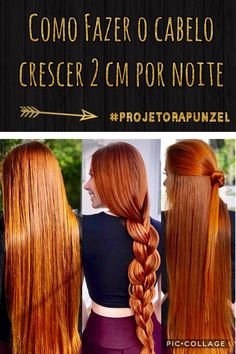 Como fazer o cabelo crescer 2 cm por noite! #projetorapunzel