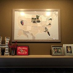 50 States Photo Map A Unique USA Travel Collage | Etsy