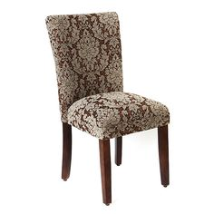Brown Damask Parsons Chair | Kirklands