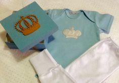 Kit de calça e Body - personalizado - caixa estilizada <br>Contato (11)979995434