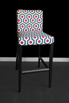 Ikea Henriksdal Bar Stool Chair Cover Fynn Yellow By