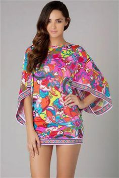 44b315146b Fiji Flower by Trina Turk  144 Cute tunic as a cover-up
