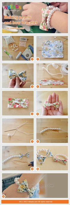DIY Tutorial craft tutorials / Making Pearls And Bow Bracelet - Bead&Cord