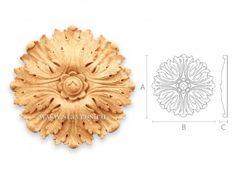 резная деревянная розетка R-044