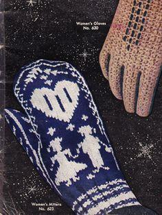 Vintage pattern freebie: norwegian mittens