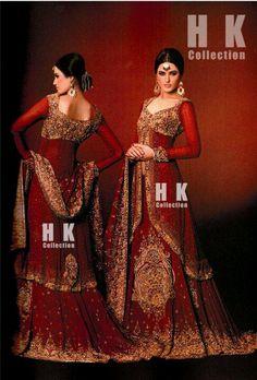 Hina Khan Bridal wear.