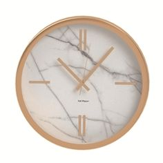 ZONE Wall Clock - Rose Gold and Marble