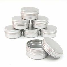 25 x 15ml Aluminium Lip Balm Pots 15ml Capacity Empty Small Mini Cosmetic/Lip Gloss/Nail Art Pots Tins Jars , http://www.amazon.co.uk/dp/B0082DAJKI/ref=cm_sw_r_pi_dp_AdDBrb0G243F8