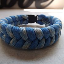 Blue and Desert Foliage Paracord Bracelet USA made parachute cord knotted together. It is stylish, durable, and easy comes apart in emergebcy situations.