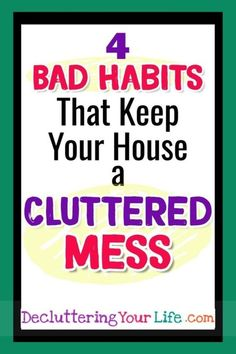 Trying to declutter your home? Get stuck on clutter organization and wonder WHY your house is so messy? Cleaning & organizing is easier when you know WHY your house is a disgusting mess and then use this declutter checklist to declutter your home. Deep Cleaning Tips, House Cleaning Tips, Cleaning Hacks, Cleaning Checklist, Cleaning Routines, Cleaning Schedules, Cleaning Solutions, Clutter Organization, Home Organization Hacks