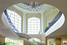 The Ballantyne Grand Staircase. The Ballantyne, a Luxury Collection Hotel, Charlotte.