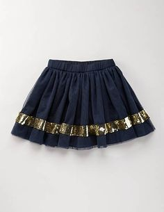 navy and gold baby skirt