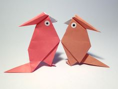 schaeresteipapier: Origami Papageien
