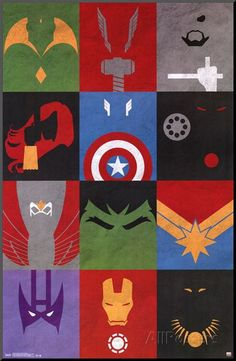 Avengers - Minimalist Grid Posters at AllPosters.com