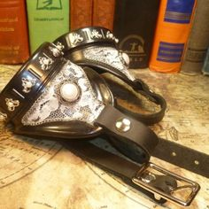 Vintage Lace and Pearl Steampunk Goggles with Adjustable Strap