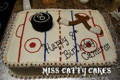 New birthday cake boys hockey ideas Hockey Birthday Cake, Hockey Birthday Parties, Hockey Party, Sports Birthday, Birthday Treats, Birthday Cakes, 9th Birthday, Hockey Cakes, Sport Cakes