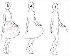 スカート描き方