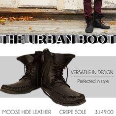 The Urban Boot #leather #Canada #handmade #rockwood #ontario #like #daily #fashion #hidesinhand Men's Footwear, Daily Fashion, Combat Boots, Canada, Urban, Leather, Handmade, Hand Made