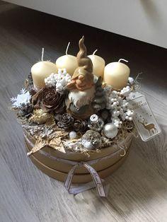 Manós adventi asztali dísz dobozban (mogyorosimesi) - Meska.hu