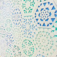 Hexagon - perler bead design by Julie K. Gray