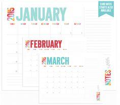 kalendarz kolorowy 2015