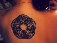 Ink on Pinterest | Wolf Tattoos Wicca Tattoo and Wiccan Tattoos