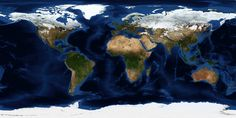 World topographic & bathymetric map (December 2004)