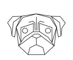 25 Ideas For Tattoo Ideas Geometric Dog Geometric Drawing, Geometric Designs, Geometric Shapes, Tape Art, String Art, Oeuvre D'art, Art Inspo, Pugs, Art Drawings