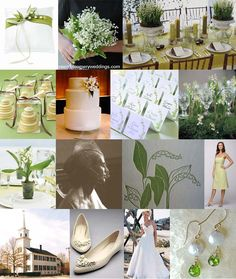 Lily of the valley wedding ideas. #lilyofthevalley #whitewedding #greenwedding