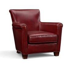 Red Italian Leather Armchairs From Natuzzi Furniture