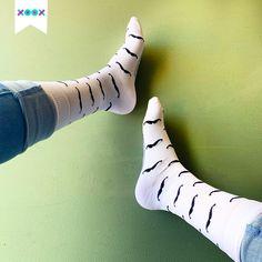 Regálalos a tu amigo o familiar con bigote, ¡los amará! Cleats, Socks, Fashion, Moustaches, Football Boots, Moda, Cleats Shoes, Fashion Styles, Sock