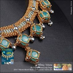 Drina Victoria (The Manek Lady) Tags: collier necklace beads crystal swarovski collar miyuki perlen poesie craw praw maneklady