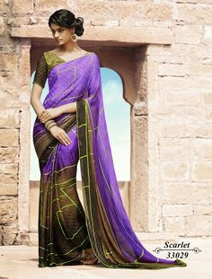 """Make it simple, but significant."" Georgette Crepe Sarees with Blouse. Price : Rs. : 995/-  Offer Price : Rs. 795/- (20% Off*) Features : Georgette / Crepe with digital prints.  Can be worn any time for any occasion like party, formal meeting and festivals or for shopping, easy to carry, easy machine or hand wash. #Elegant #Dazzling #Gorgeous #Women #Beautiful #OrderOnline #Onlineboutique #AlankritaWeboutique"