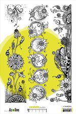 Tampon XXL : Frises de Fleurs Merveilleuses - Art Stamp