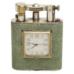 1stdibs - Dunhill Giant Shagreen Table Lighter with Clock explore items from 1,700  global dealers at 1stdibs.com