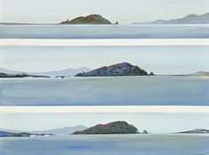 Fred Williams. Timana Island, Queensland, 1973 Mountains, Nature, Fred Williams, Image, Painting, Australian Painting, Artwork