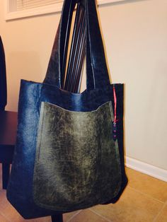 7ec4c17bbb02 Hand made leather tote.