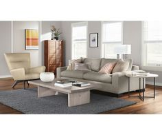 Boden Leather Chair & Ottoman - Lounge Chairs - Recliners & Lounge Chairs - Living - Room & Board