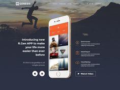 AppLead App Landing Pages by R.Genesis