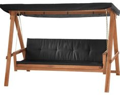 Hollywoodschaukel Four Season Holz 3-Sitzer braun bei HORNBACH kaufen