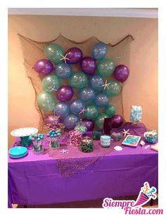 "Under the Sea/ Mermaid / Birthday ""Makena's Mermaid Party"" Little Mermaid Birthday, Little Mermaid Parties, Mermaid Baby Showers, Baby Mermaid, Baby Shower Mermaid Theme, Mermaid Party Food, Shower Baby, Girl Shower, 4th Birthday Parties"