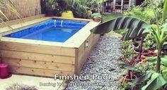 Straw bale swimming pool
