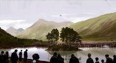 Harry Potter Concept Art, Albus Dumbledore's Funeral