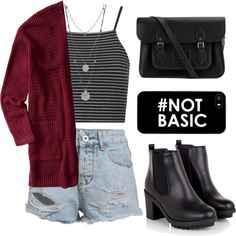 #NOT BASIC by ritagibellino on Polyvore featuring polyvore fashion style Aéropostale Topshop The Cambridge Satchel Company Vince Camuto