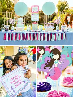 A Sparkly & Glam Mermaid Birthday Party